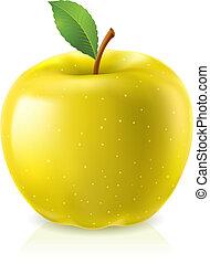 amarela, maçã