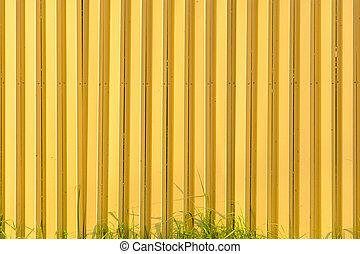 amarela, metal, textura, fundo