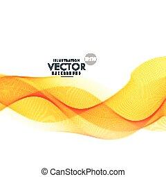 amarela, onda, fundo, desenho