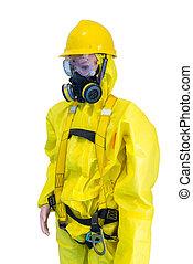 amarela, químico, proteção