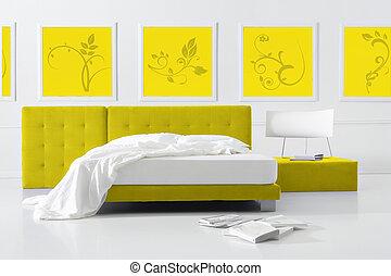 amarela, quarto
