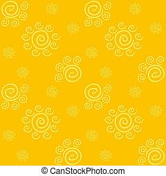amarela, solar, padrão