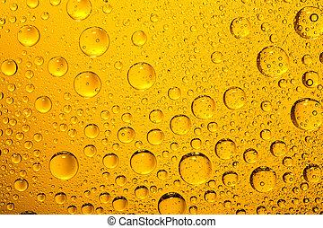 amarelo dourado, gotas água