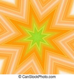 amarelo-verde, respingo, estrela