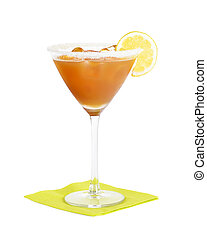 Amaretto Sour Cocktail - Short drink made with Amaretto...