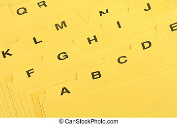 amarillo, archivo, divisor