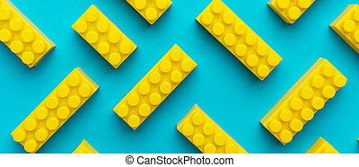 amarillo, azul, turquesa, plano de fondo, componentes ...