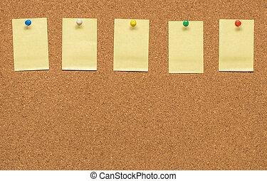 Aviso postit corcho nota tabla blanco aviso espacio - Tabla de corcho ...