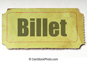 amarillo, boleto, :, francés