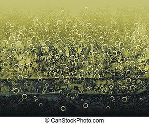 amarillo, burbujas