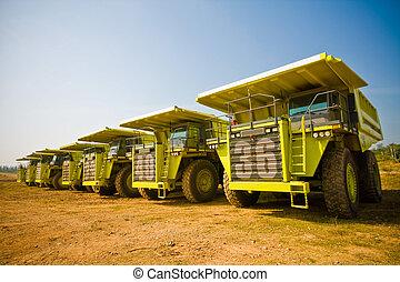 amarillo, camión