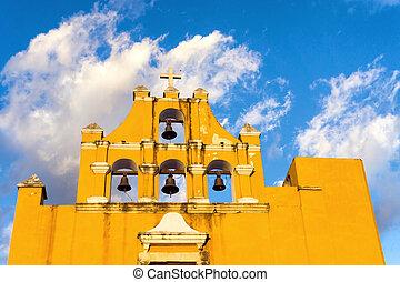 amarillo, campeche, iglesia