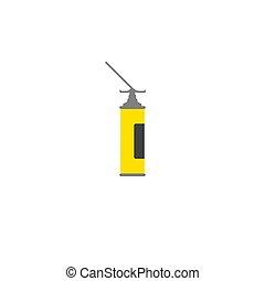amarillo, casa, tubo, vector, empaquetado, poliuretano, ...