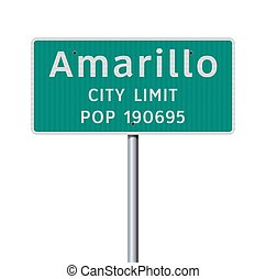 Amarillo City Limit road sign