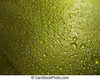 amarillo, gota agua, para, plano de fondo