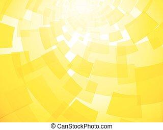 amarillo, moderno, torcido, plano de fondo