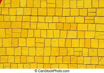 amarillo, mosaicos