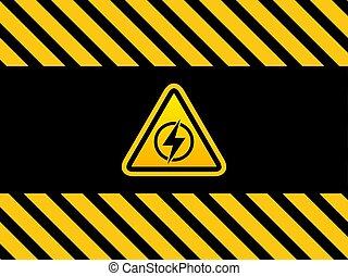 amarillo, negro, triangual, señal
