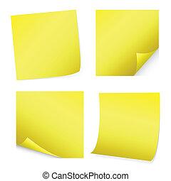 amarillo, post-it