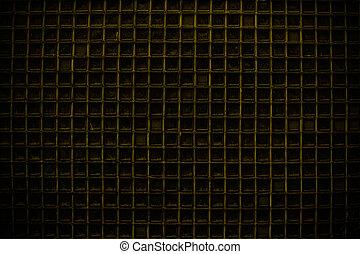 amarillo, puerta de pantalla, detalle, patrón, plano de fondo, o, textura