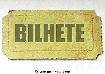 amarillo, ticket:, portugese