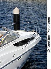amarrado, luxo, bote