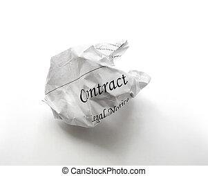 amarrotado, contrato
