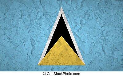 amarrotado, grunge, efeito, lucia, bandeira, papel, são