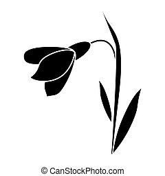amaryllis flower decorative icon pictogram