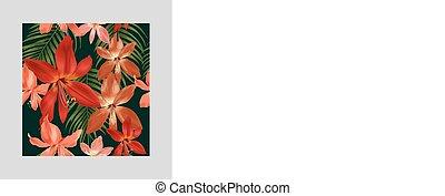 Amaryllis seamless pattern
