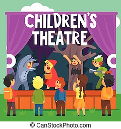 Amateur Children Theatre Performance Of A Red Hood Fairy...