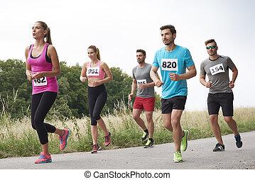 amateur, läufer, bewegung