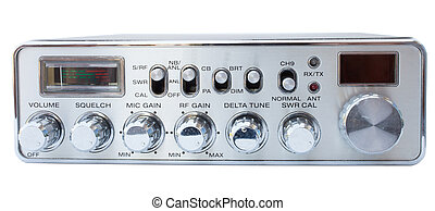 Amateur radio - Isolated old CB radio with lots of dials and...