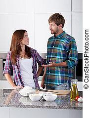 amato, coppia, cucina