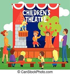 amatore, teatro, racconto, esecuzione, fata, bambini