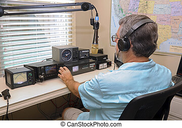 Amatuer Ham Radio Operater - Ham radio operators are used in...