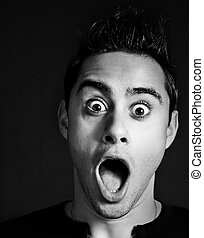 Amazed and shocked funny man - Amazed and shocked funny...