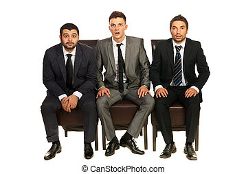 Amazed business men
