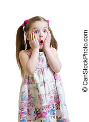 Amazed girl closeup portrait