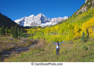 Amazement of Maroon Bells in Fall