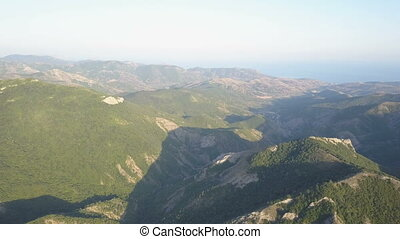 Amazing aerial view of Mountains in Crimea.