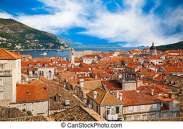 Dubrovnik Old Town from its City Walls