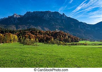 Amazing alpine landscape in the autumn time. Austria, Tirol, Tyrol