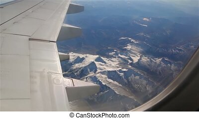 Amazing Alps Mountains From Plane - Amazing Alps Mountains...