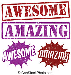 Amazing and Awesome stamps - Set of Amazing and Awesome...