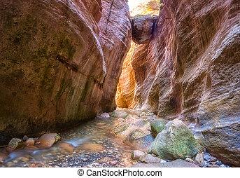 Amazing Avakas gorge, nature landscape, Cyprus