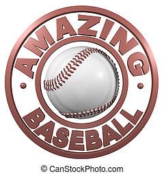 Amazing Baseball circular design