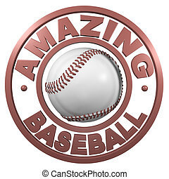 Amazing Baseball circular design