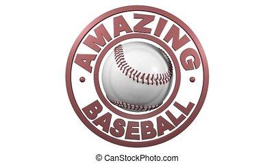 Amazing Baseball circular design with white background