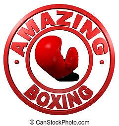 Amazing Boxing circular design